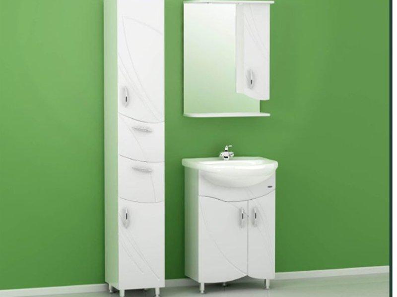 Мебель для ванной комнаты до 60см. Мебель для ванной Koral Флора 55.